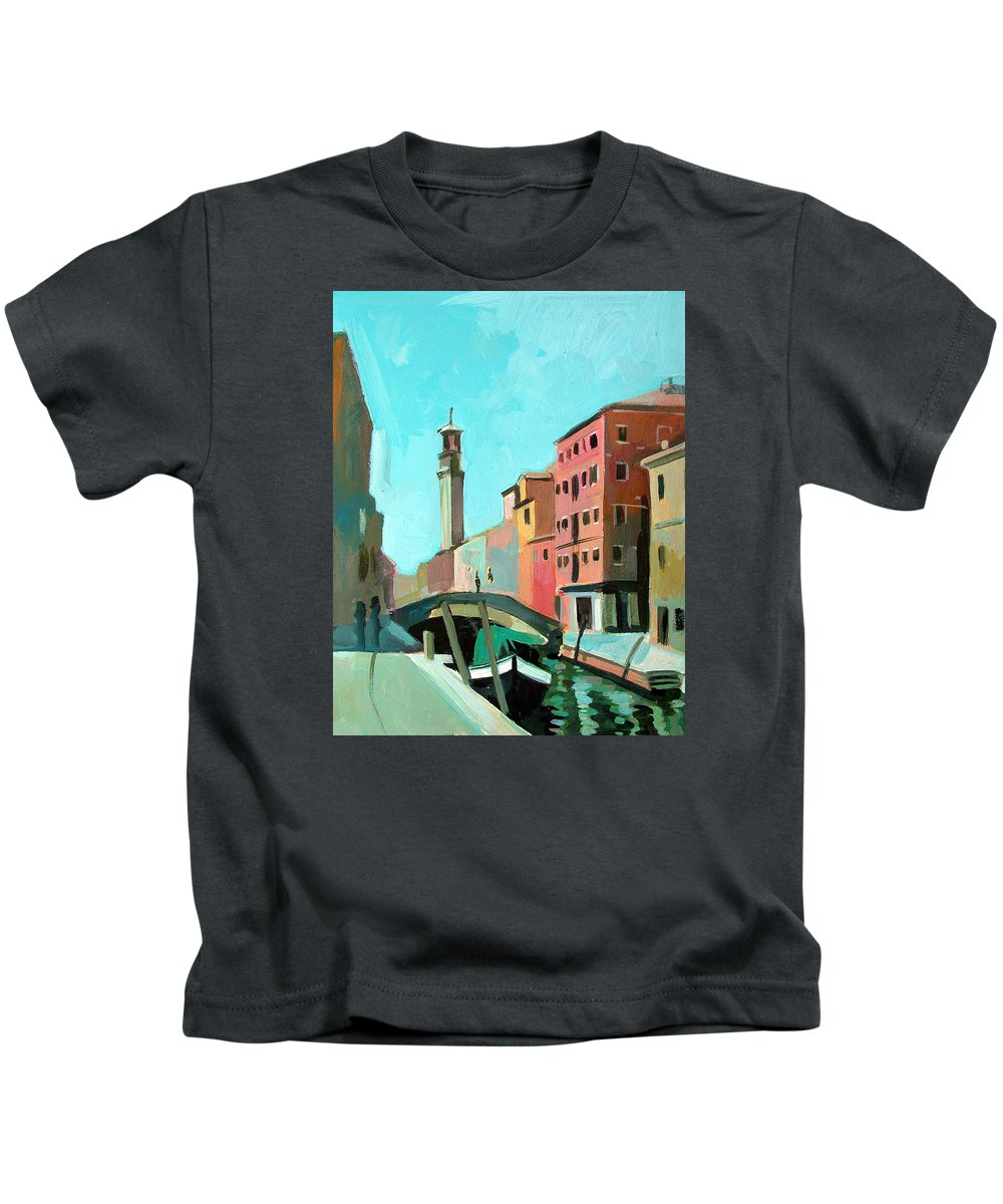 Landscape Kids T-Shirt featuring the painting Venice by Filip Mihail