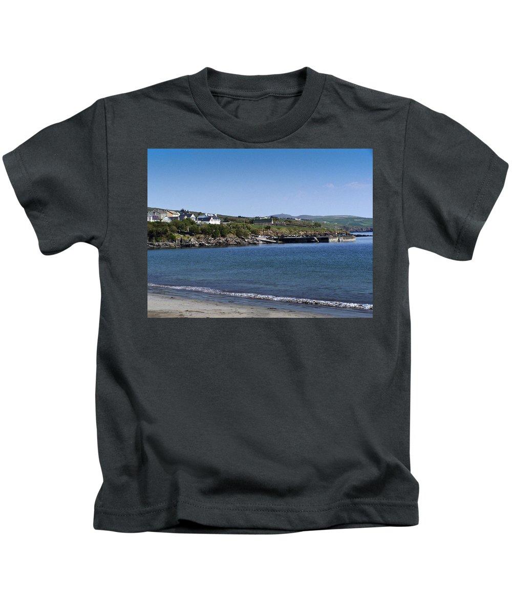 Irish Kids T-Shirt featuring the photograph Ventry Beach And Harbor Ireland by Teresa Mucha