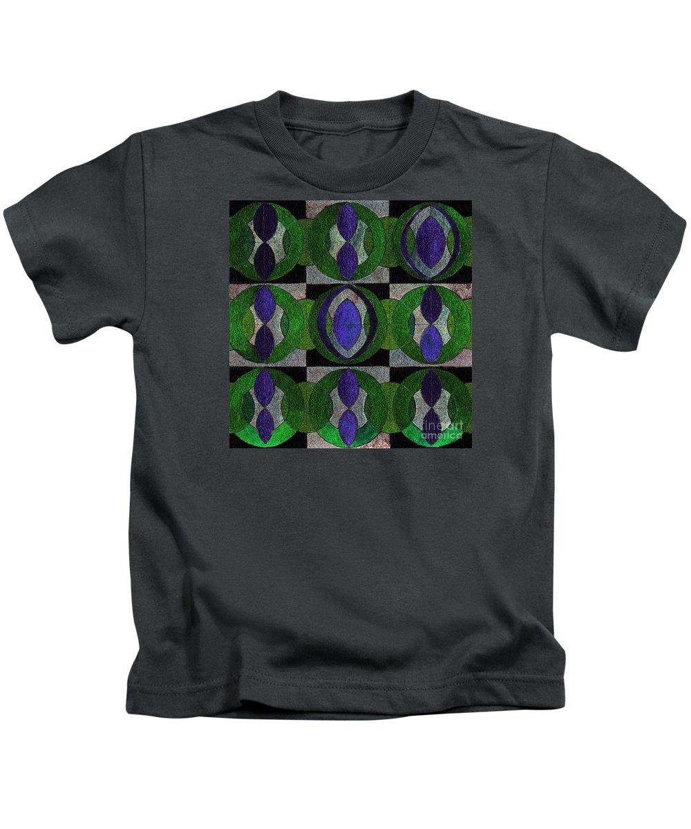 Canvas Prints Kids T-Shirt featuring the digital art Verdant Pattern by Norma Appleton