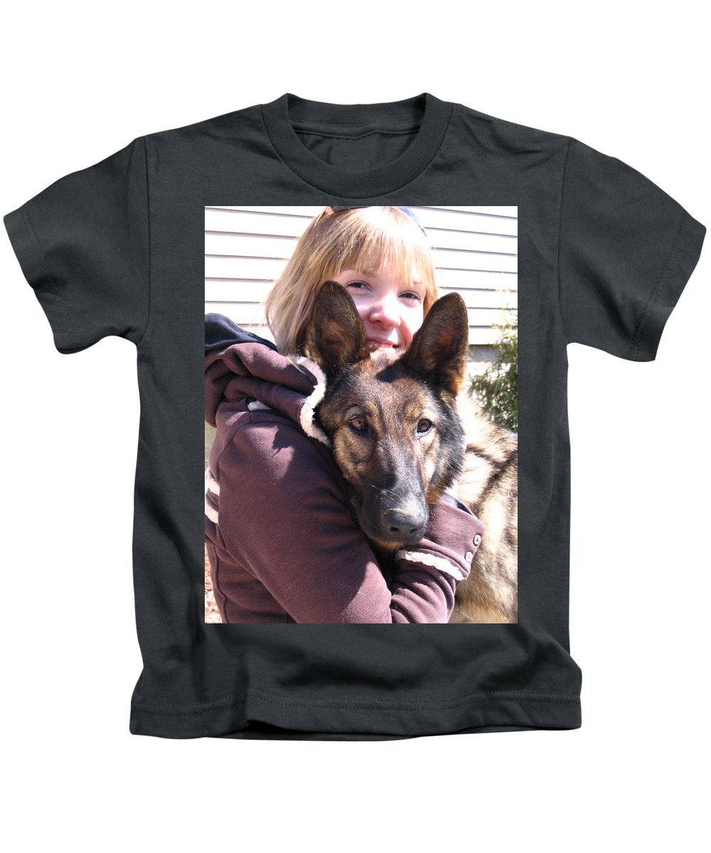 Daughter Kids T-Shirt featuring the photograph Vero Et Foxy by Line Gagne