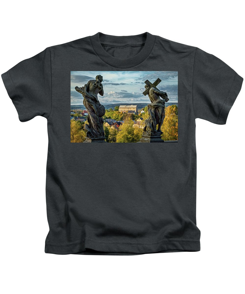 Czech Kids T-Shirt featuring the photograph View From Kuks Hospital - Czechia by Stuart Litoff