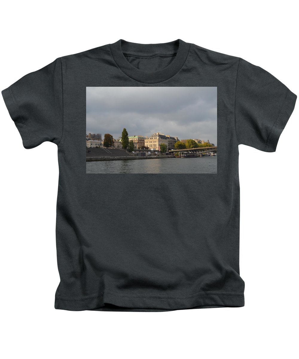 Seine Kids T-Shirt featuring the photograph View From The Seine by Dawn Crichton