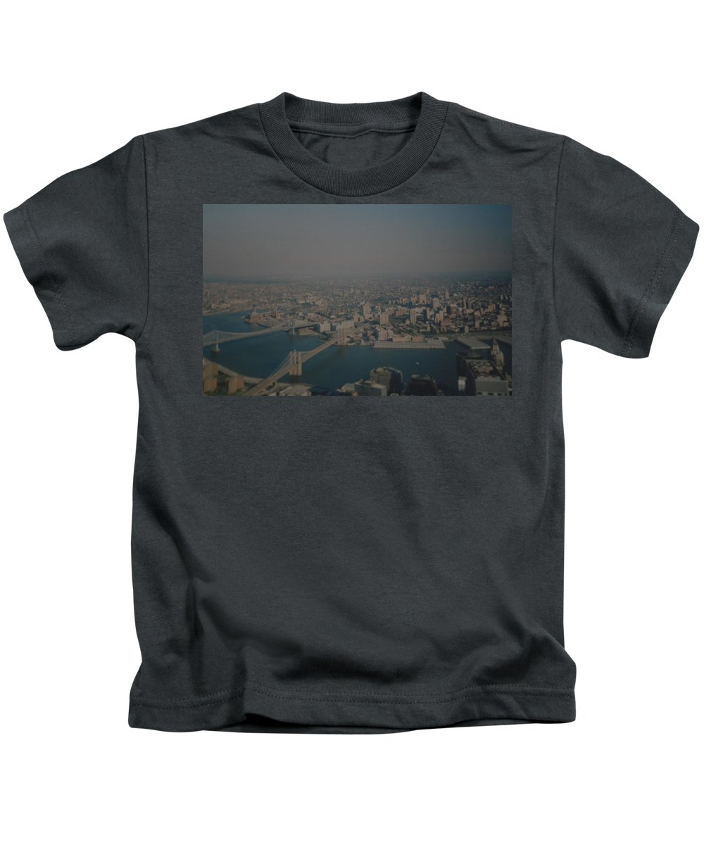 Wtc Kids T-Shirt featuring the photograph View From The W T C by Rob Hans