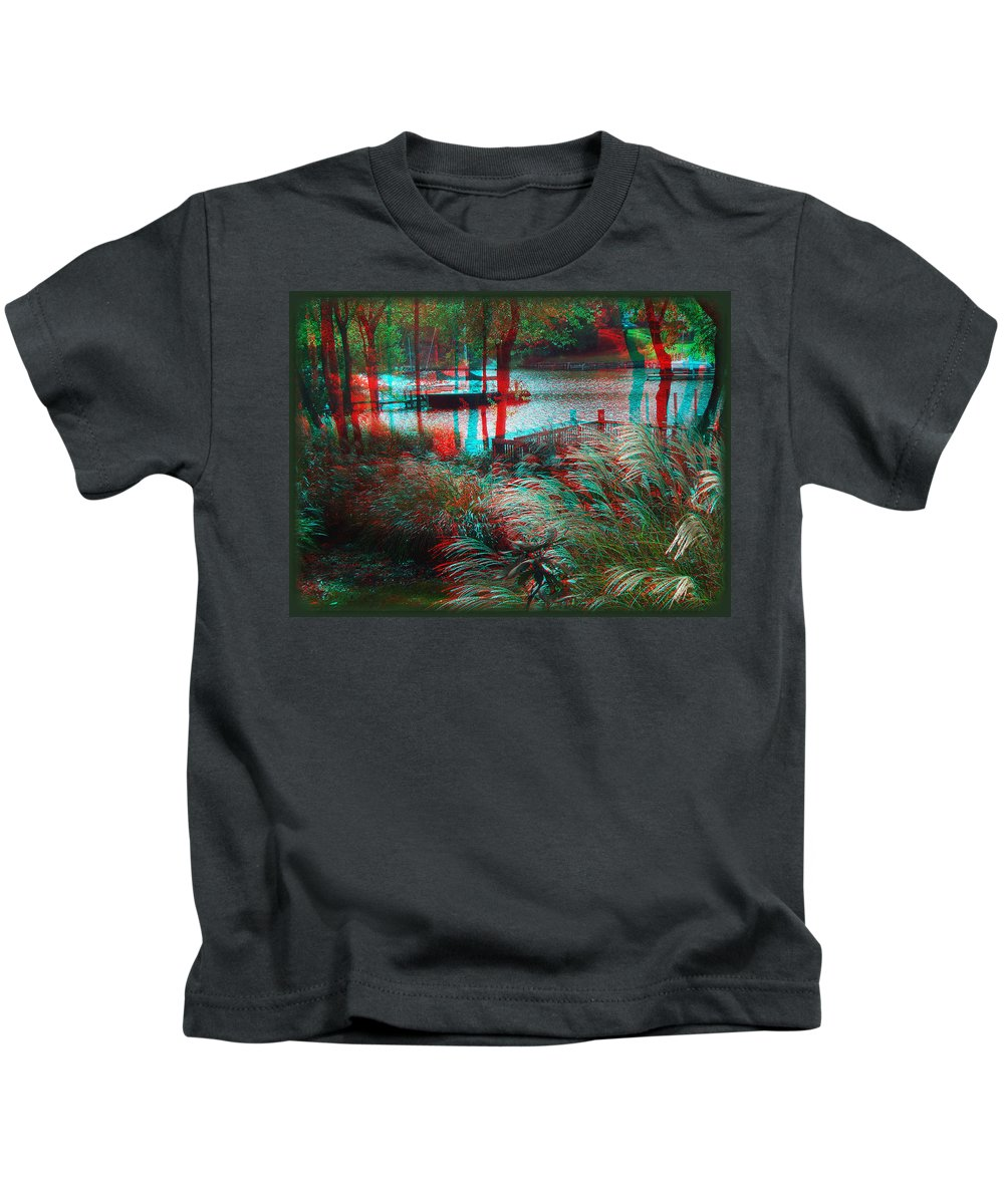3d Kids T-Shirt featuring the photograph View To The Cove - Use Red-cyan 3d Glasses by Brian Wallace