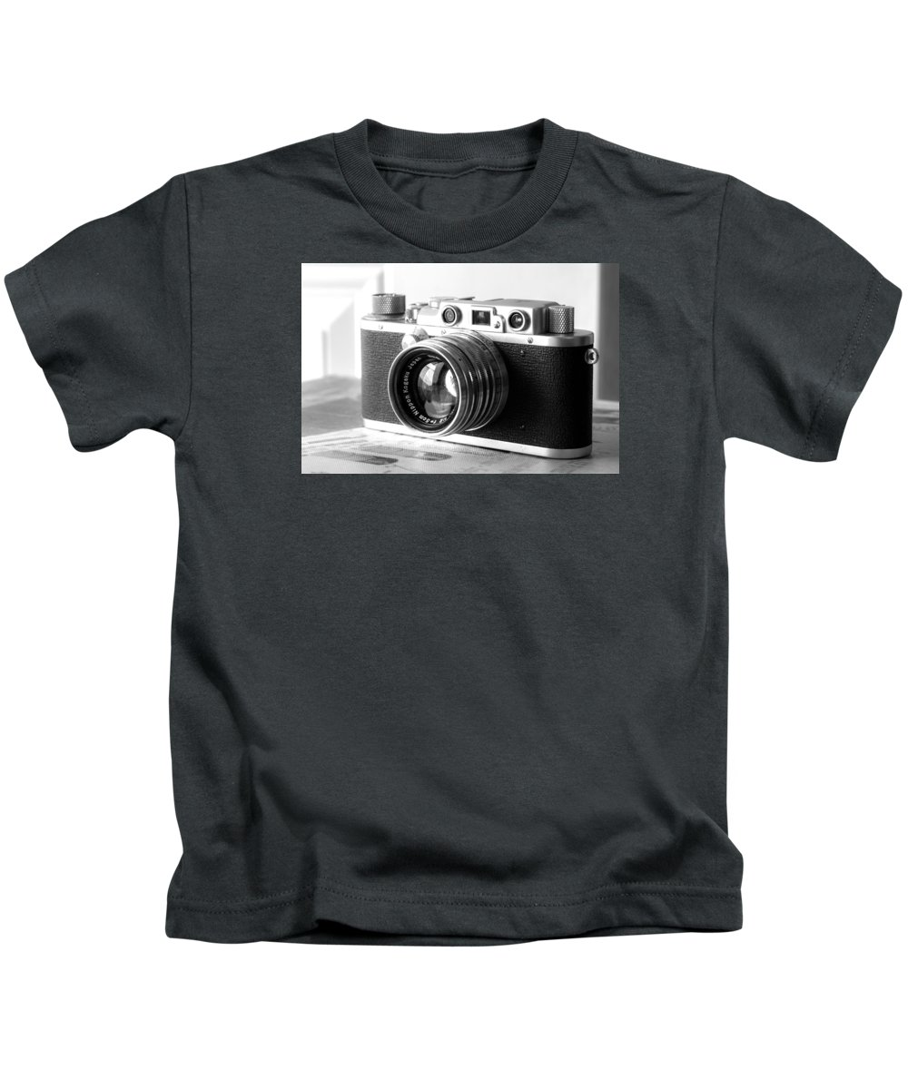 Vintage Camera Kids T-Shirt featuring the photograph Vintage Camera C10b by Otri Park