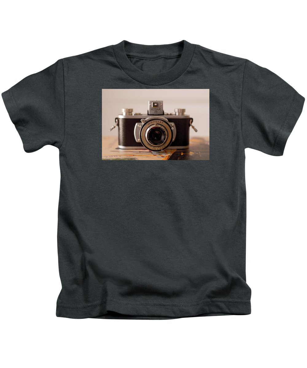 Vintage Camera Kids T-Shirt featuring the photograph Vintage Camera C10i by Otri Park