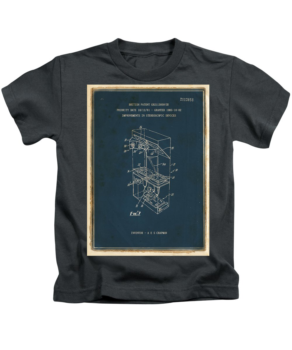Invention Kids T-Shirt featuring the painting Virtual Reality Video Game by Szeamus Chapman