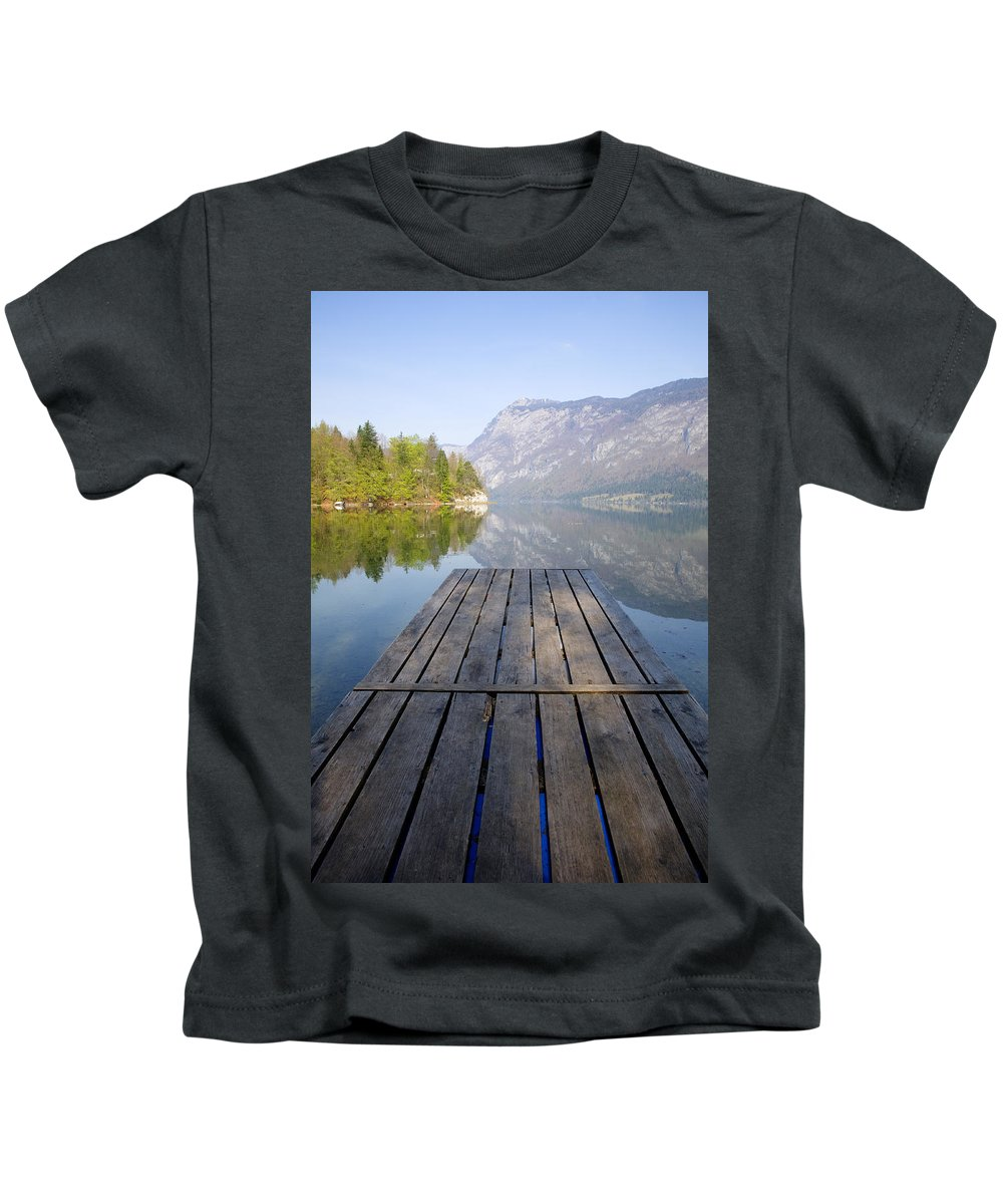 Bohinj Kids T-Shirt featuring the photograph Visions Of Bohinj by Ian Middleton