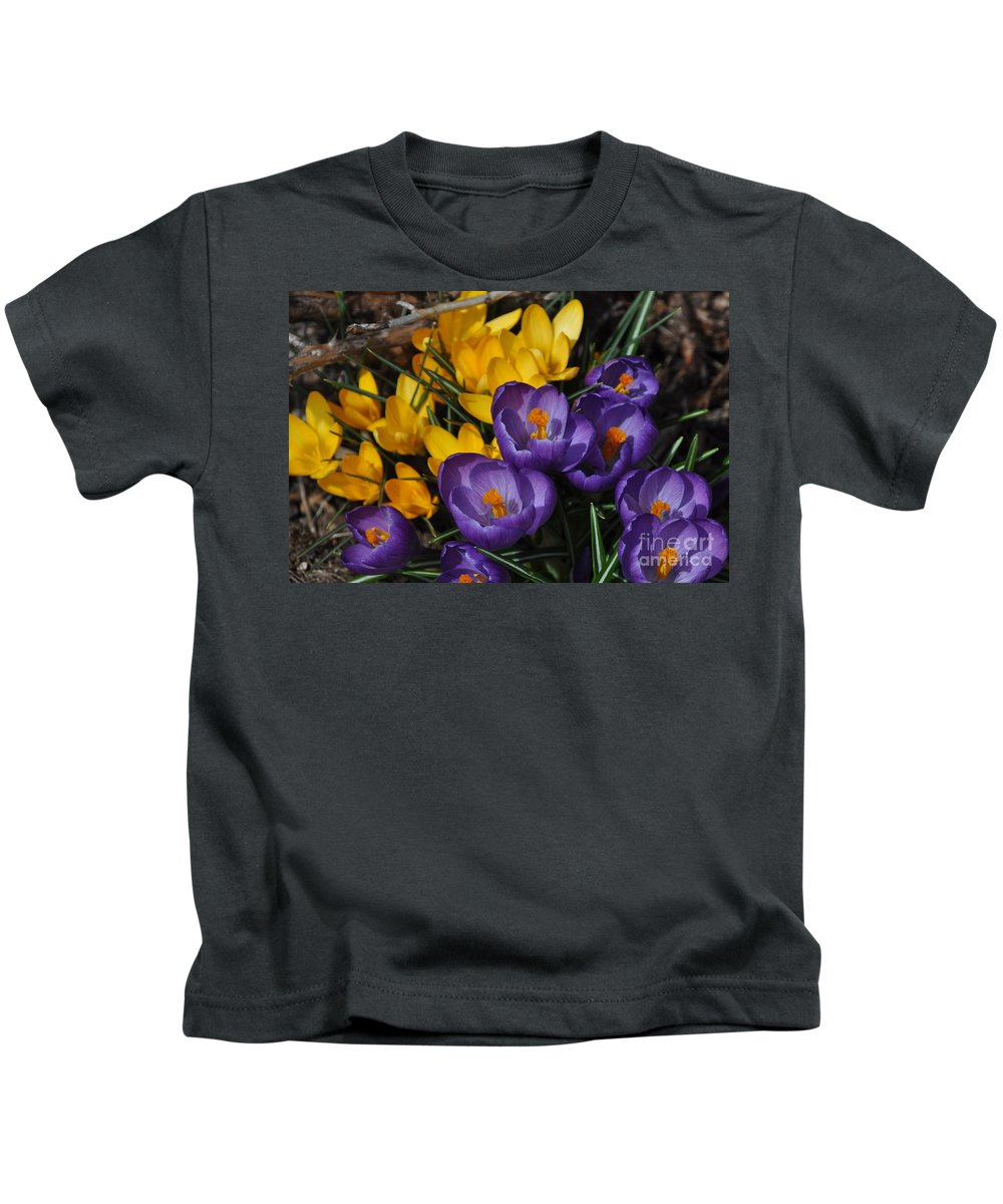 Crocus Kids T-Shirt featuring the photograph Visions Of Spring by Nona Kumah