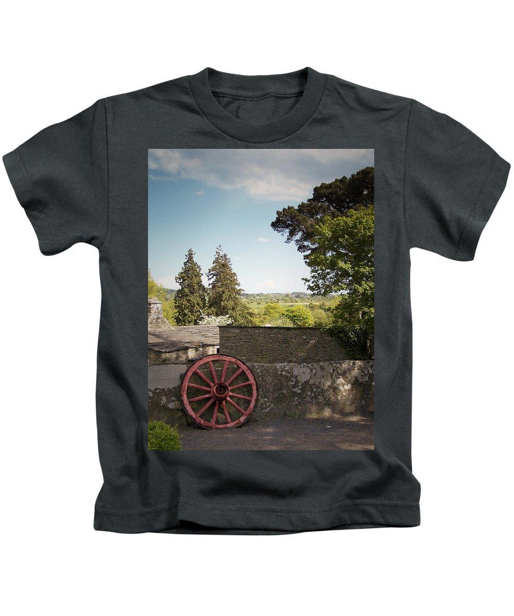 Irish Kids T-Shirt featuring the photograph Wagon Wheel County Clare Ireland by Teresa Mucha