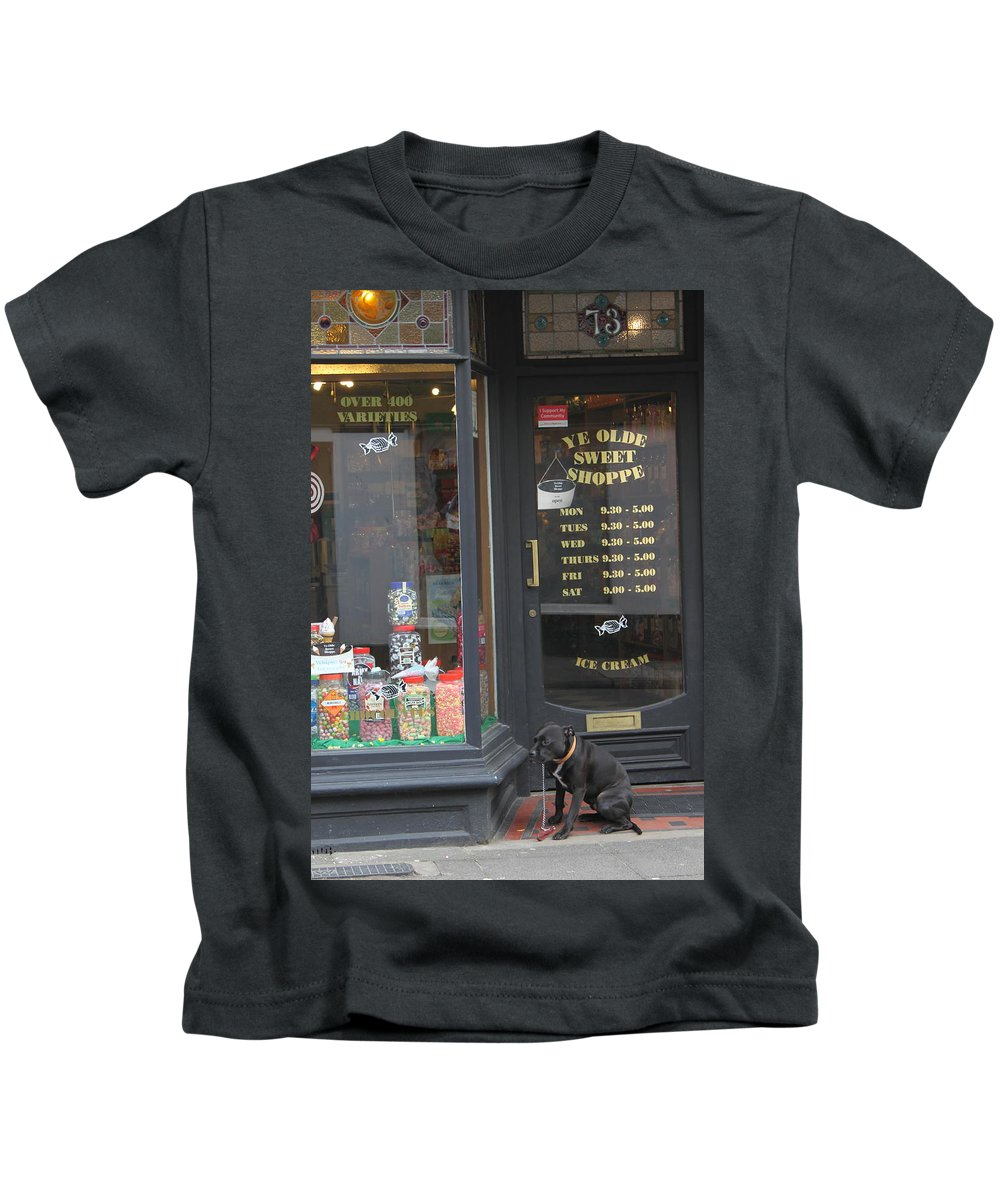 Candy Kids T-Shirt featuring the photograph Waiting For Sweets by Lauri Novak
