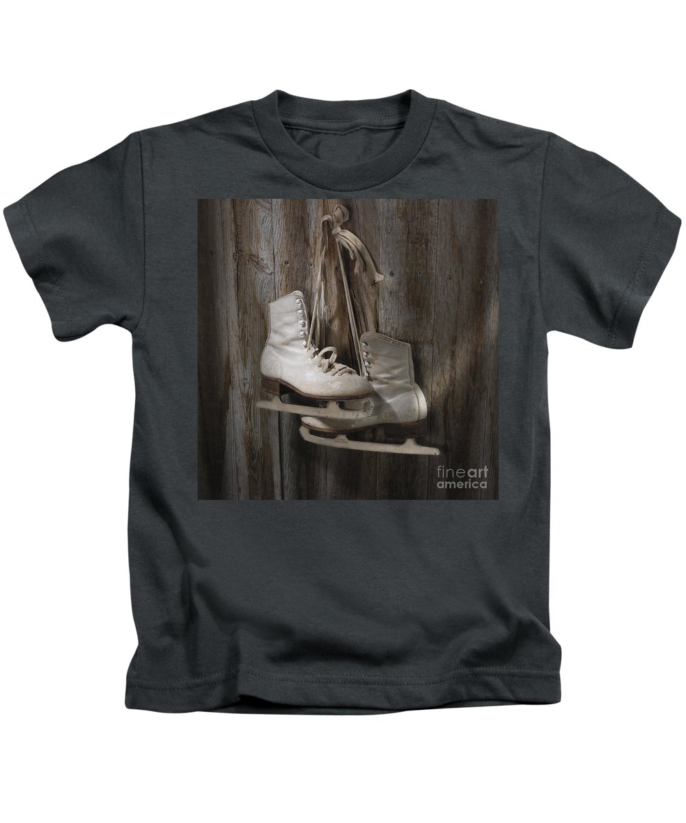 Sport Kids T-Shirt featuring the photograph Waiting For The Pond To Freeze by Jerry McElroy