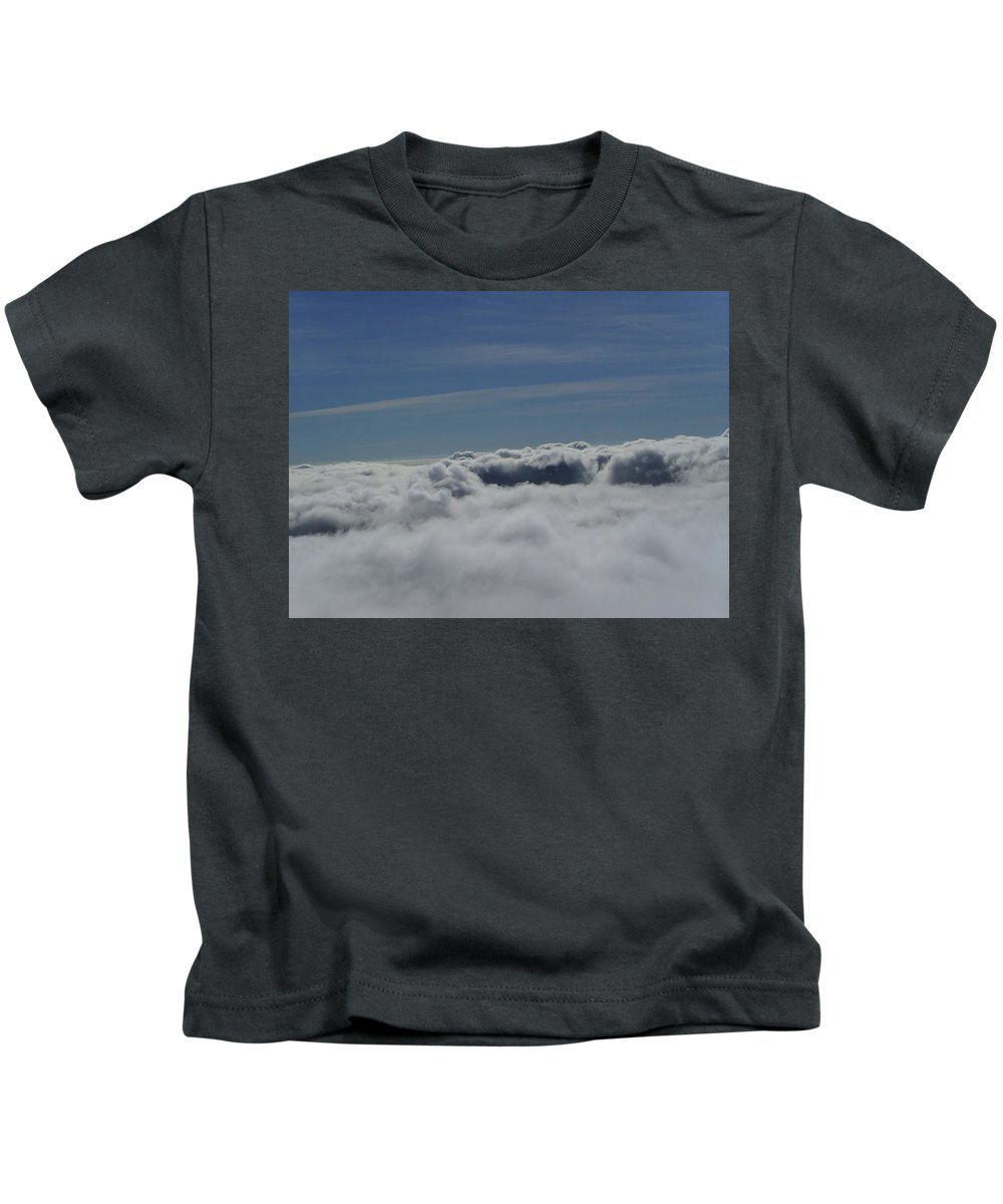 Clouds Kids T-Shirt featuring the photograph Walking The Clouds by Jeff Swan