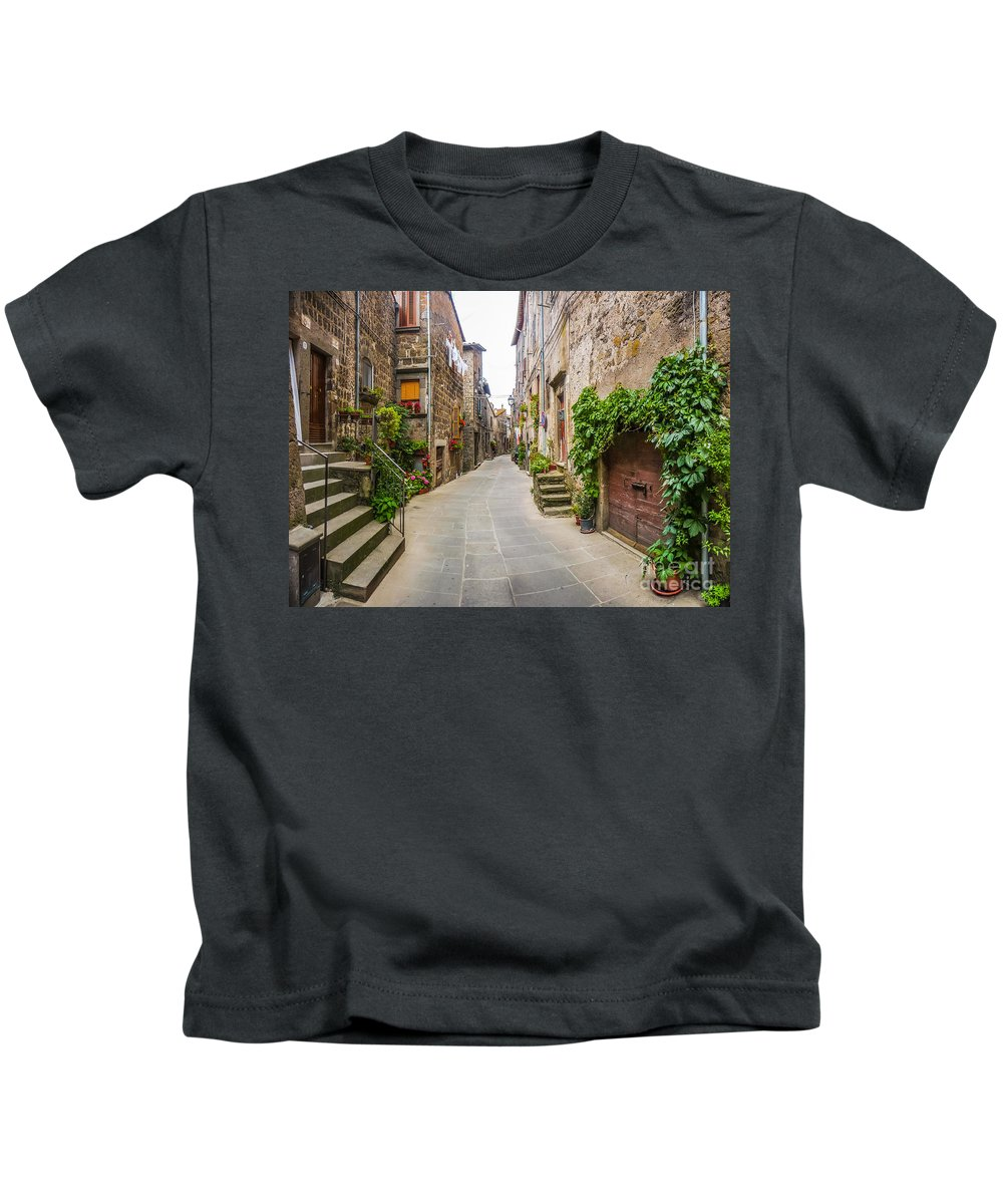 Alley Kids T-Shirt featuring the photograph Walking Through Old Europe by JR Photography