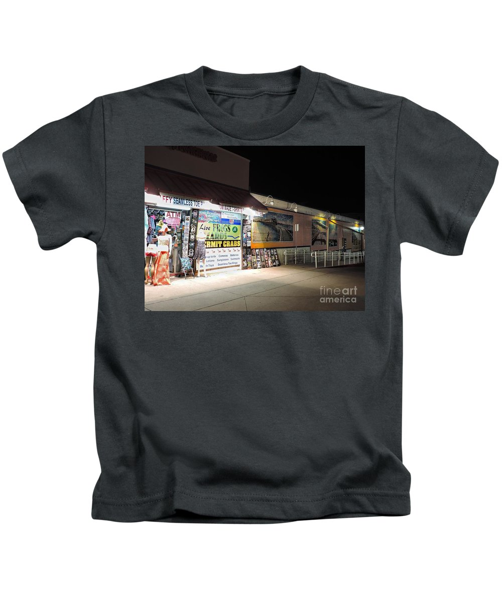 Boardwalk Kids T-Shirt featuring the photograph Walkway To The Past by Doug Swanson