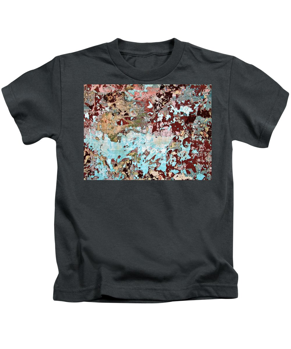 Texture Kids T-Shirt featuring the photograph Wall Abstract 128 by Maria Huntley