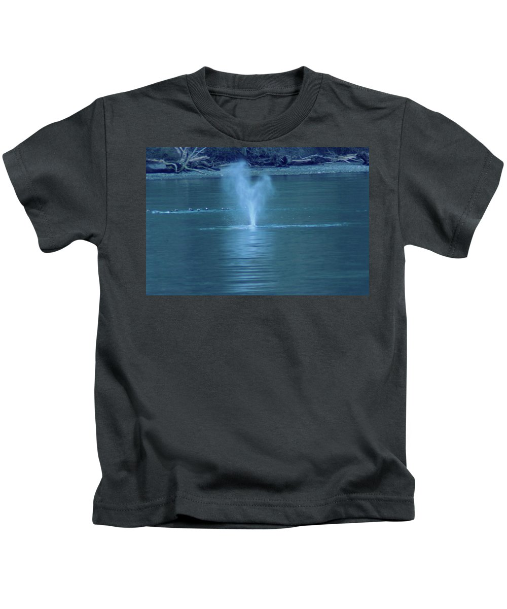 Gray Whales Kids T-Shirt featuring the photograph Was That A Sneeze by Jeff Swan