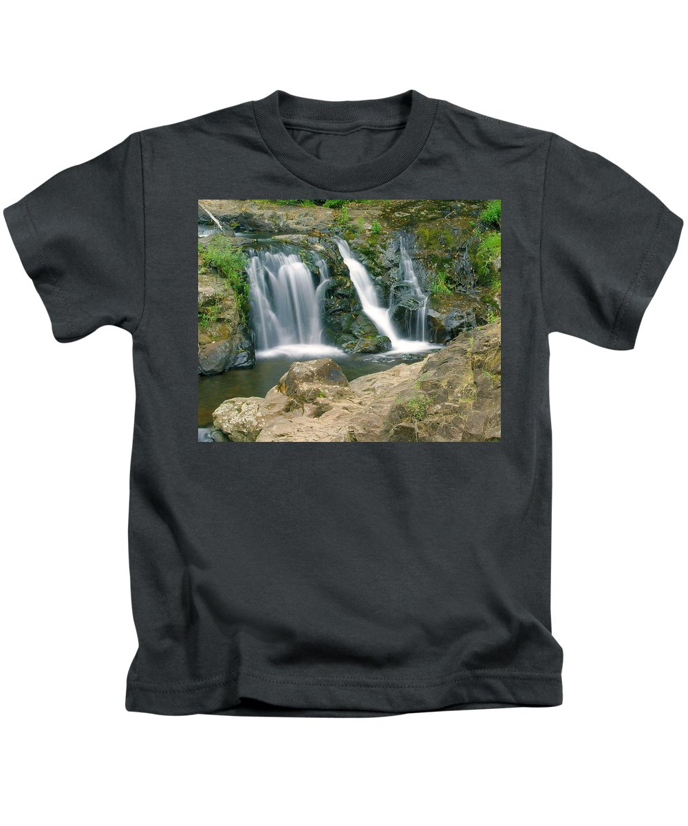 Waterfall Kids T-Shirt featuring the photograph Washington Falls 3 by Marty Koch
