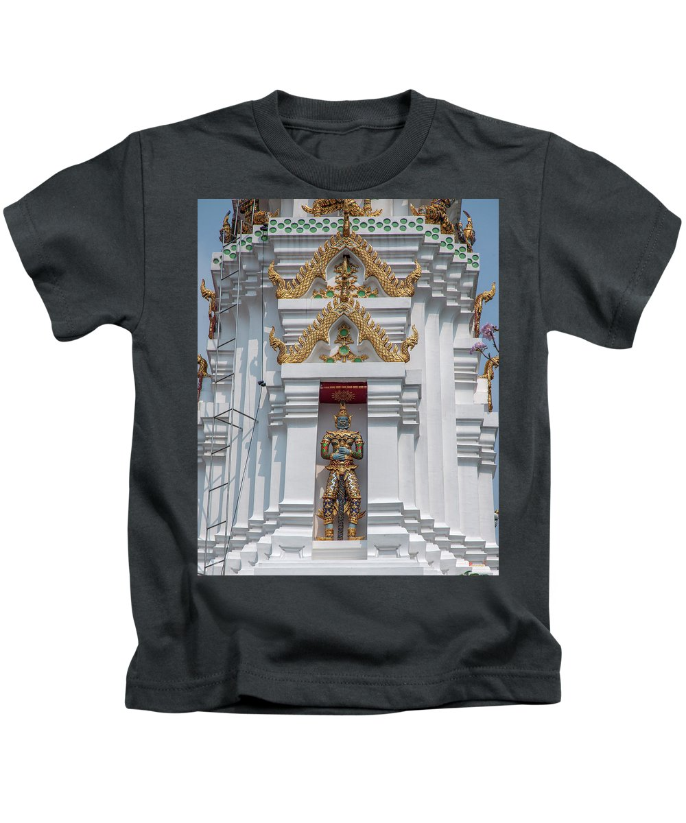 Scenic Kids T-Shirt featuring the photograph Wat Apson Sawan Phra Chedi Guardian Giant Dthb1922 by Gerry Gantt