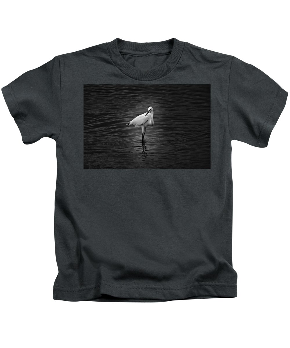 Black And White Kids T-Shirt featuring the photograph Watching You by Jody Braswell