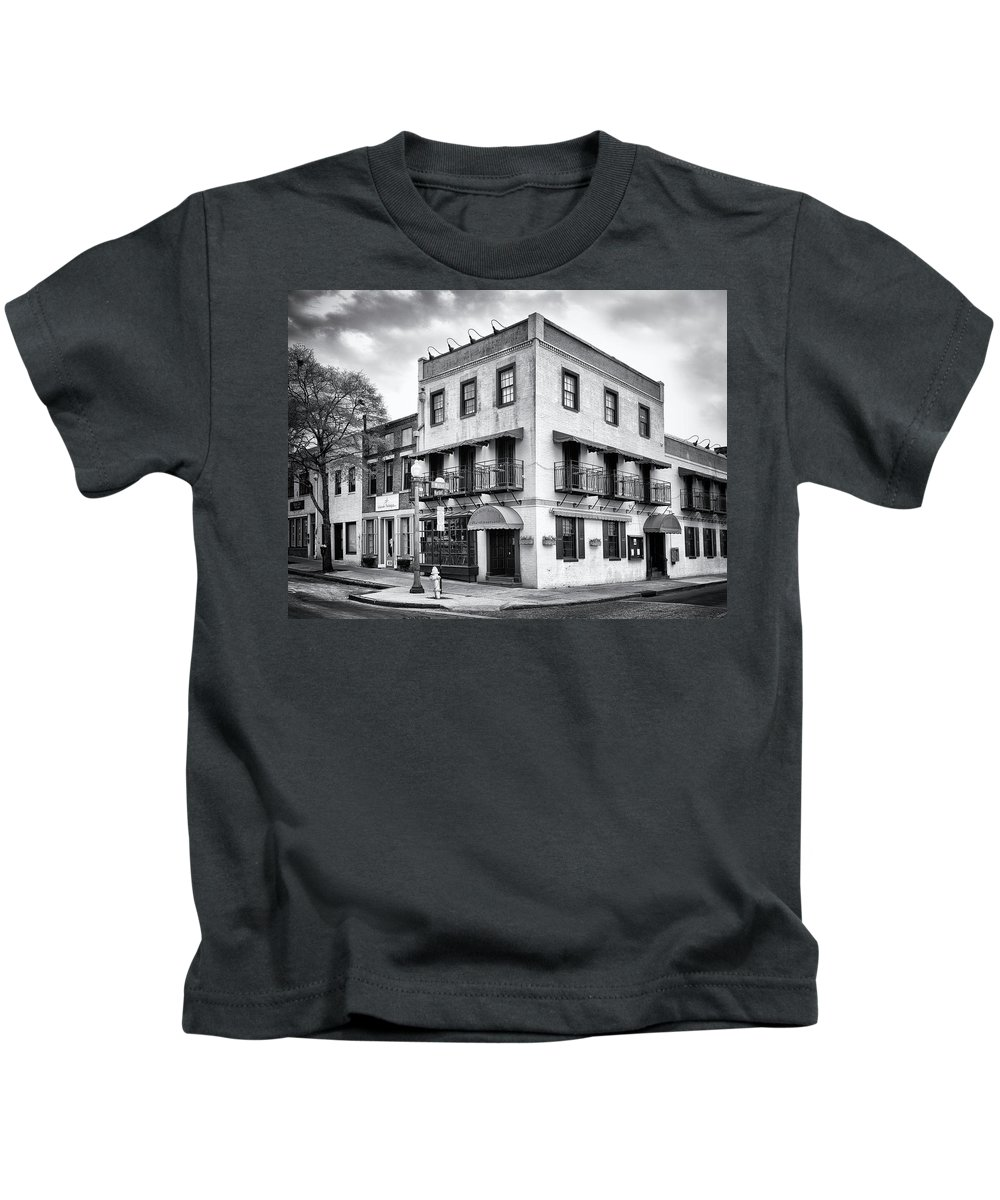 Historic District Kids T-Shirt featuring the photograph Water And Market by Paul Schreiber