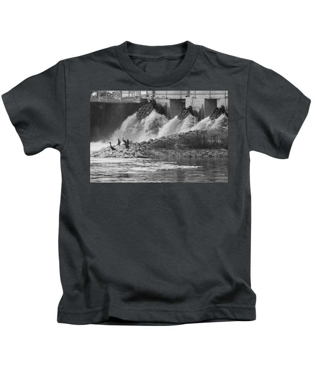 Water Kids T-Shirt featuring the photograph Water Birds by Rob Hans