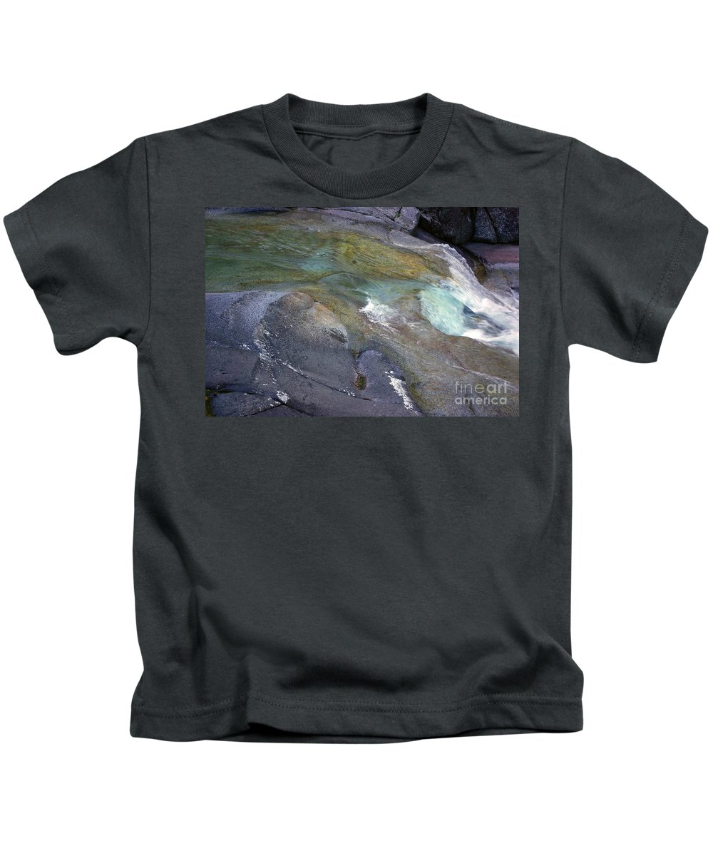 Tropical Kids T-Shirt featuring the photograph Water Flow by Kerryn Madsen- Pietsch
