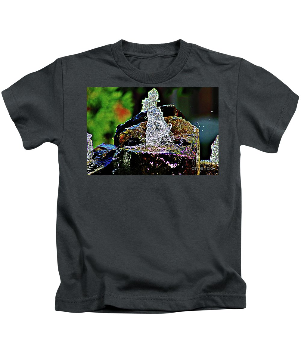 Water Kids T-Shirt featuring the photograph Water From Stone by Don Baker
