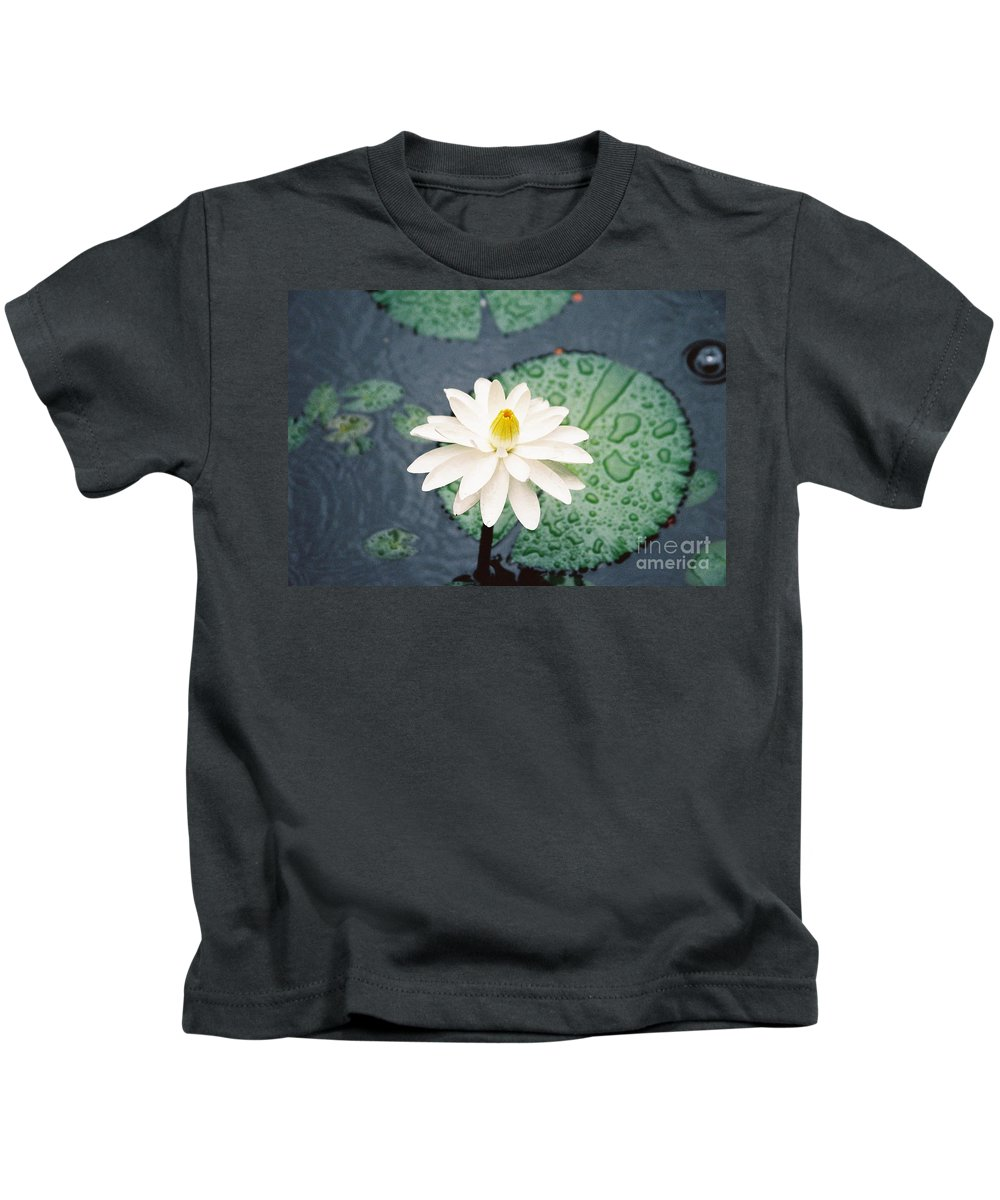 Flowers Kids T-Shirt featuring the photograph Water Lily by Kathy McClure