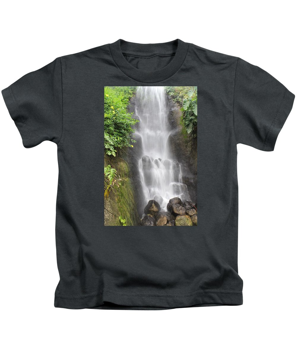 Waterfall Kids T-Shirt featuring the photograph Waterfall by Kyle Hillman