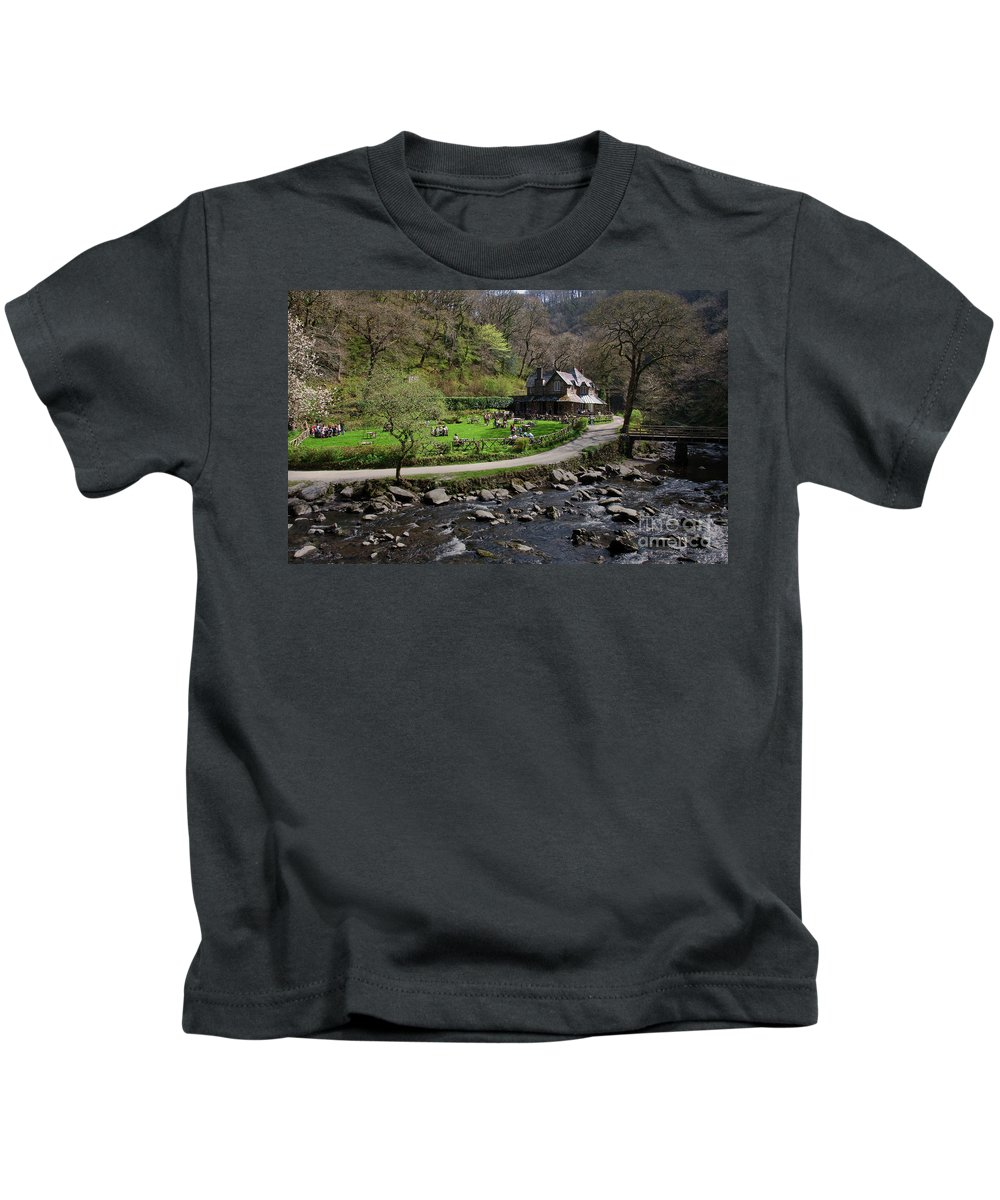 Watersmeet Kids T-Shirt featuring the photograph Watersmeet by Rob Hawkins