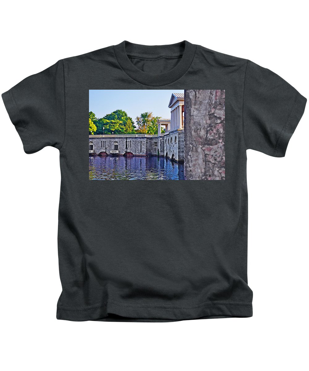 Waterworks Kids T-Shirt featuring the photograph Waterworks - Philadelphia by Bill Cannon