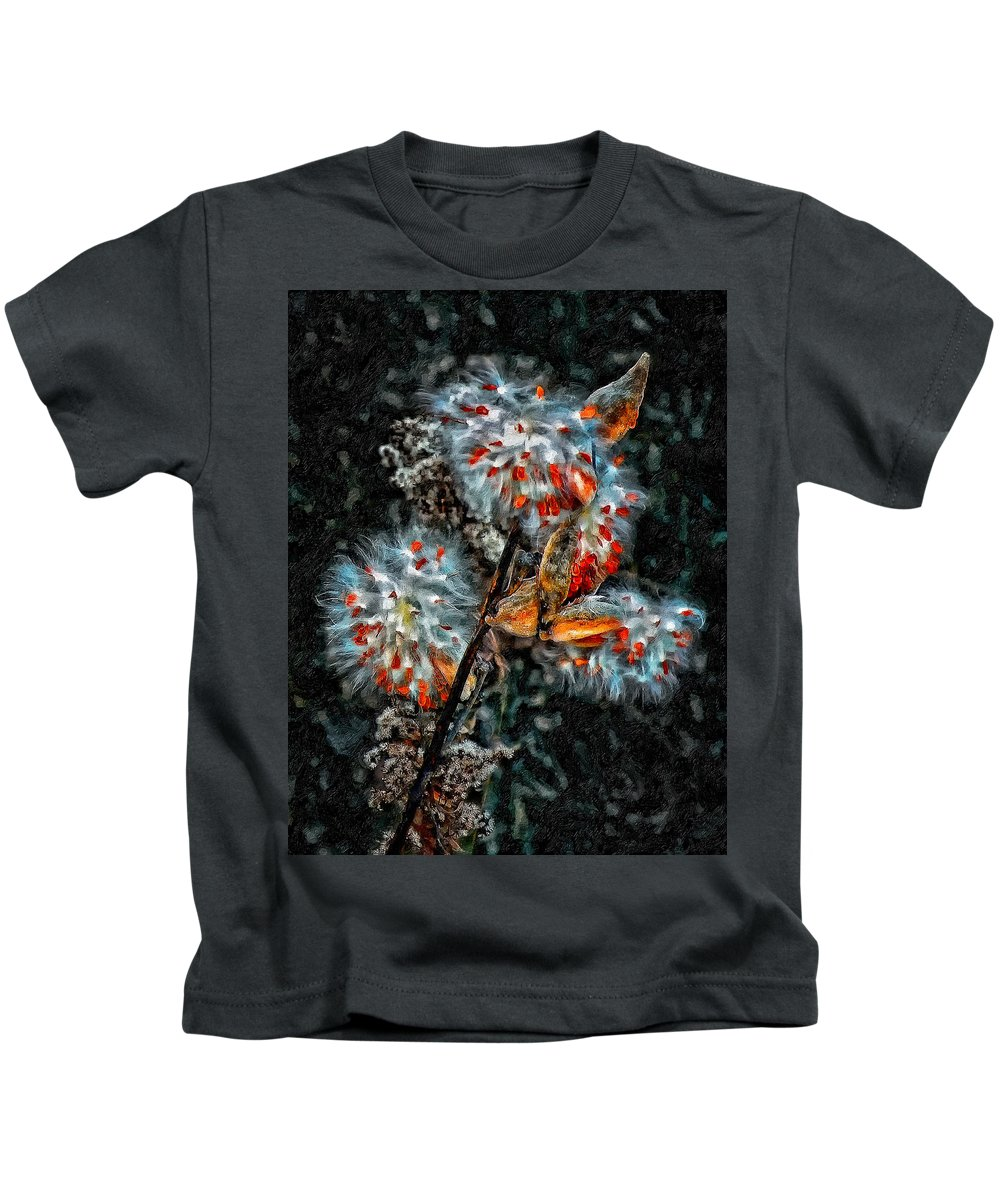 Weed Kids T-Shirt featuring the photograph Weed Galaxy Painted Version by Steve Harrington