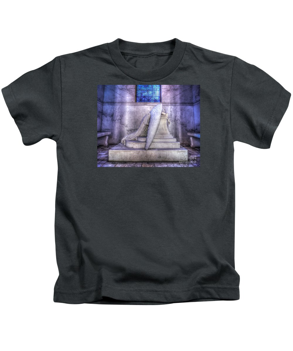 Kids T-Shirt featuring the digital art Weeping Angel by Dylan Barbier