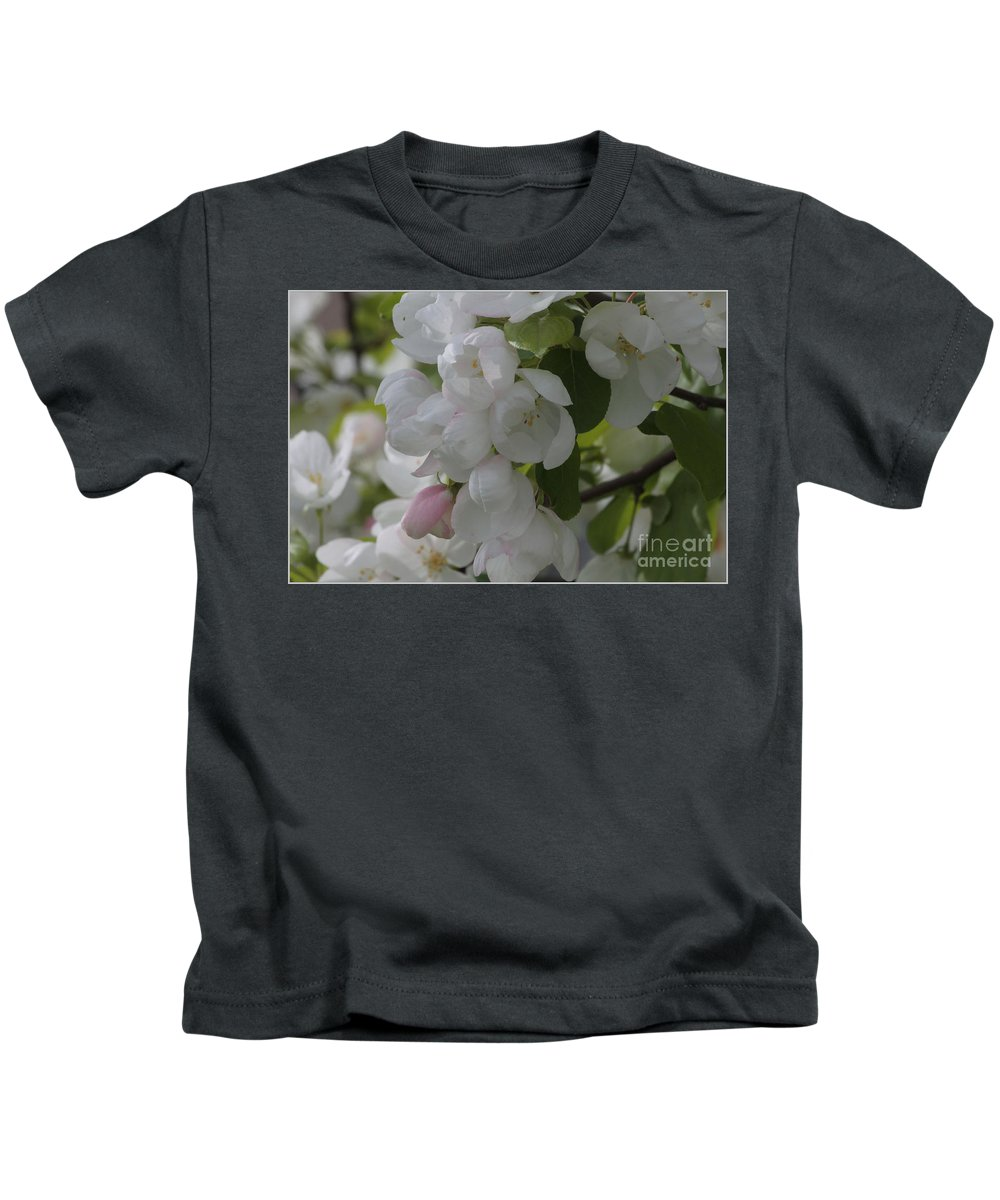 Apple Blossoms Kids T-Shirt featuring the photograph Welcome Spring by Luv Photography