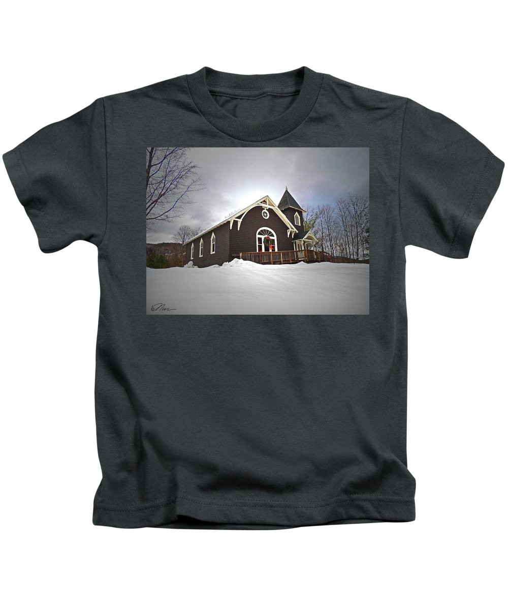 Church Kids T-Shirt featuring the photograph West Rumney Community Church by Nancy Griswold
