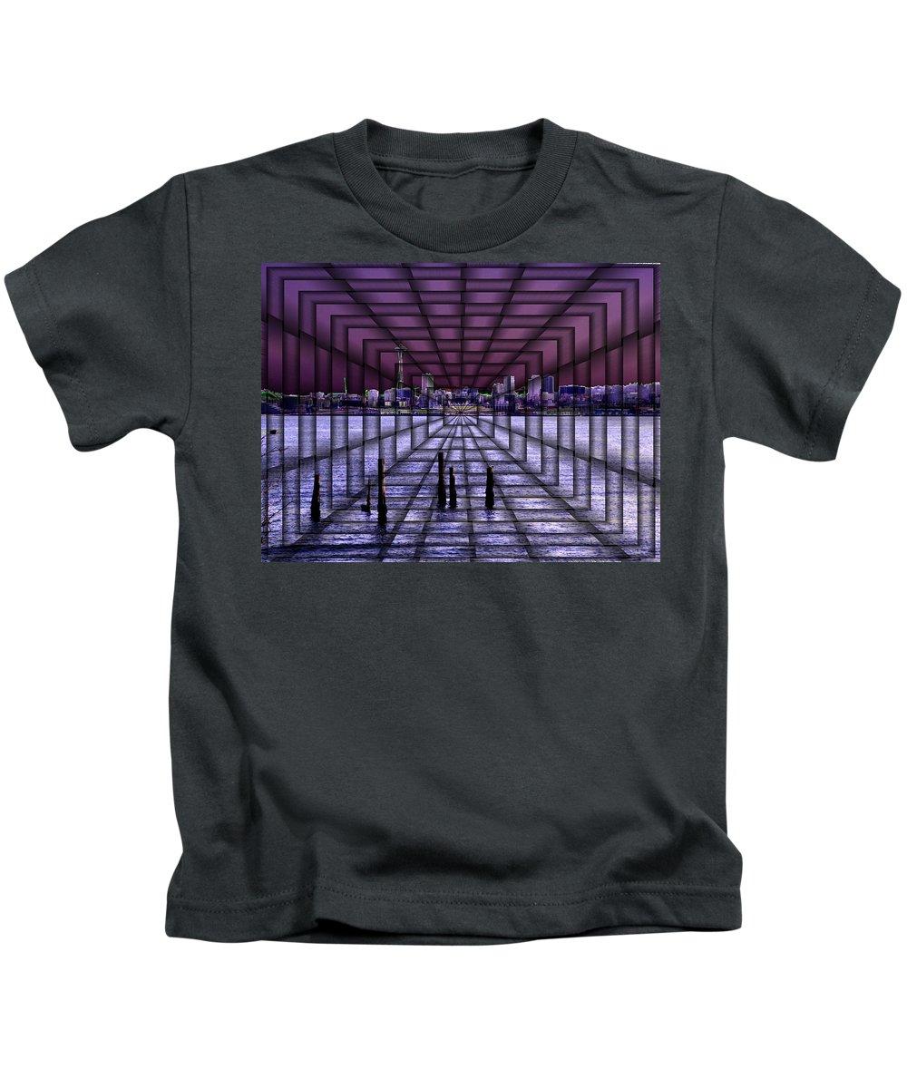 Seattlel Kids T-Shirt featuring the digital art West Seattle Vortex by Tim Allen