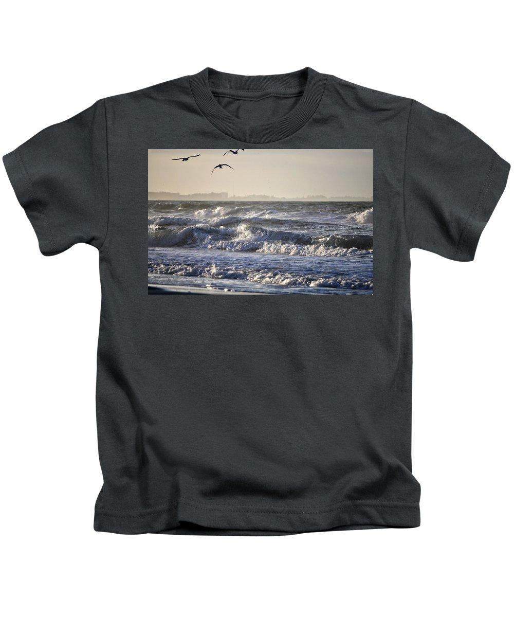 John Knapko Kids T-Shirt featuring the photograph Wet And Wild by John Knapko