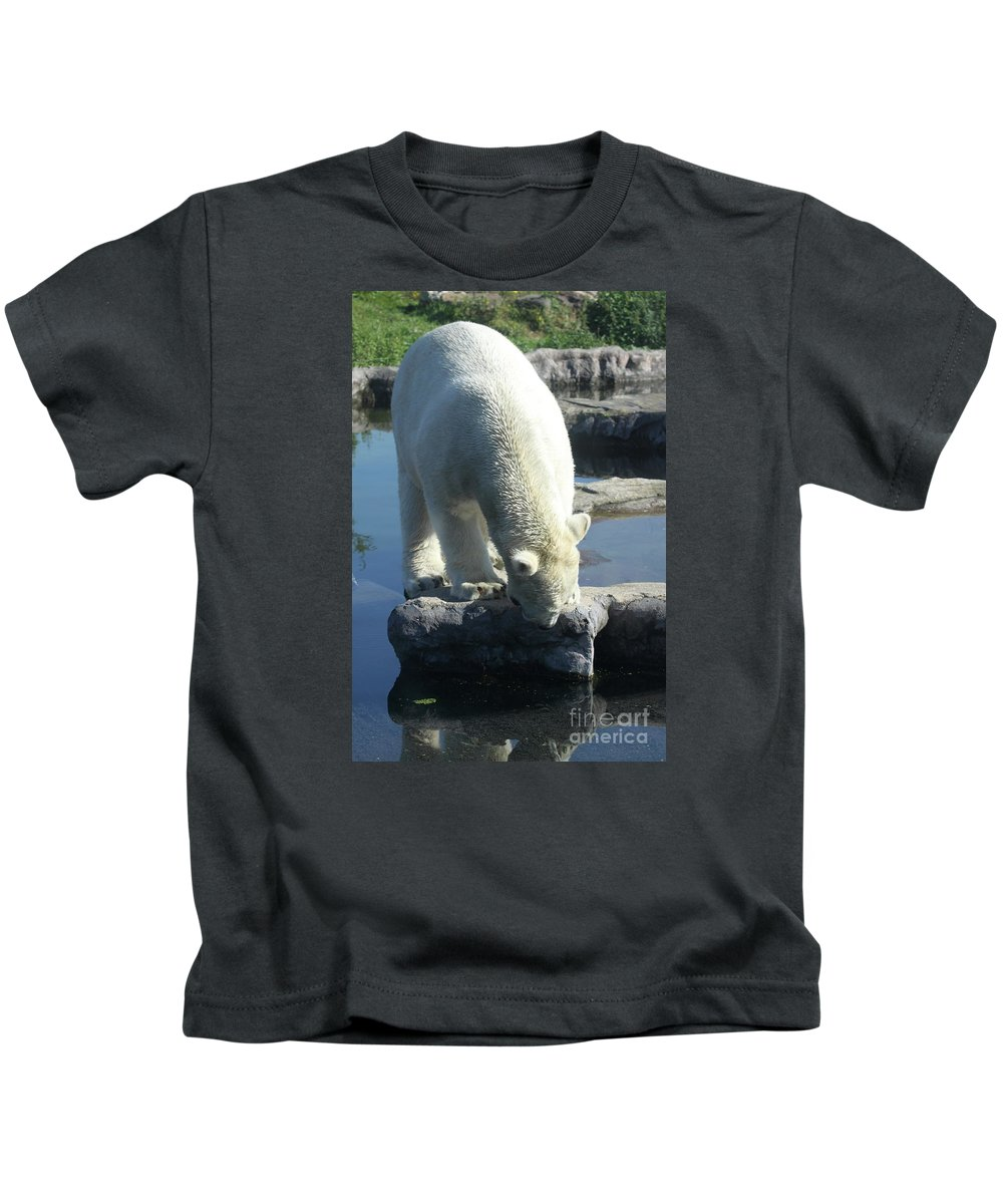 Ice Bear Kids T-Shirt featuring the photograph Where Is It by Christiane Schulze Art And Photography