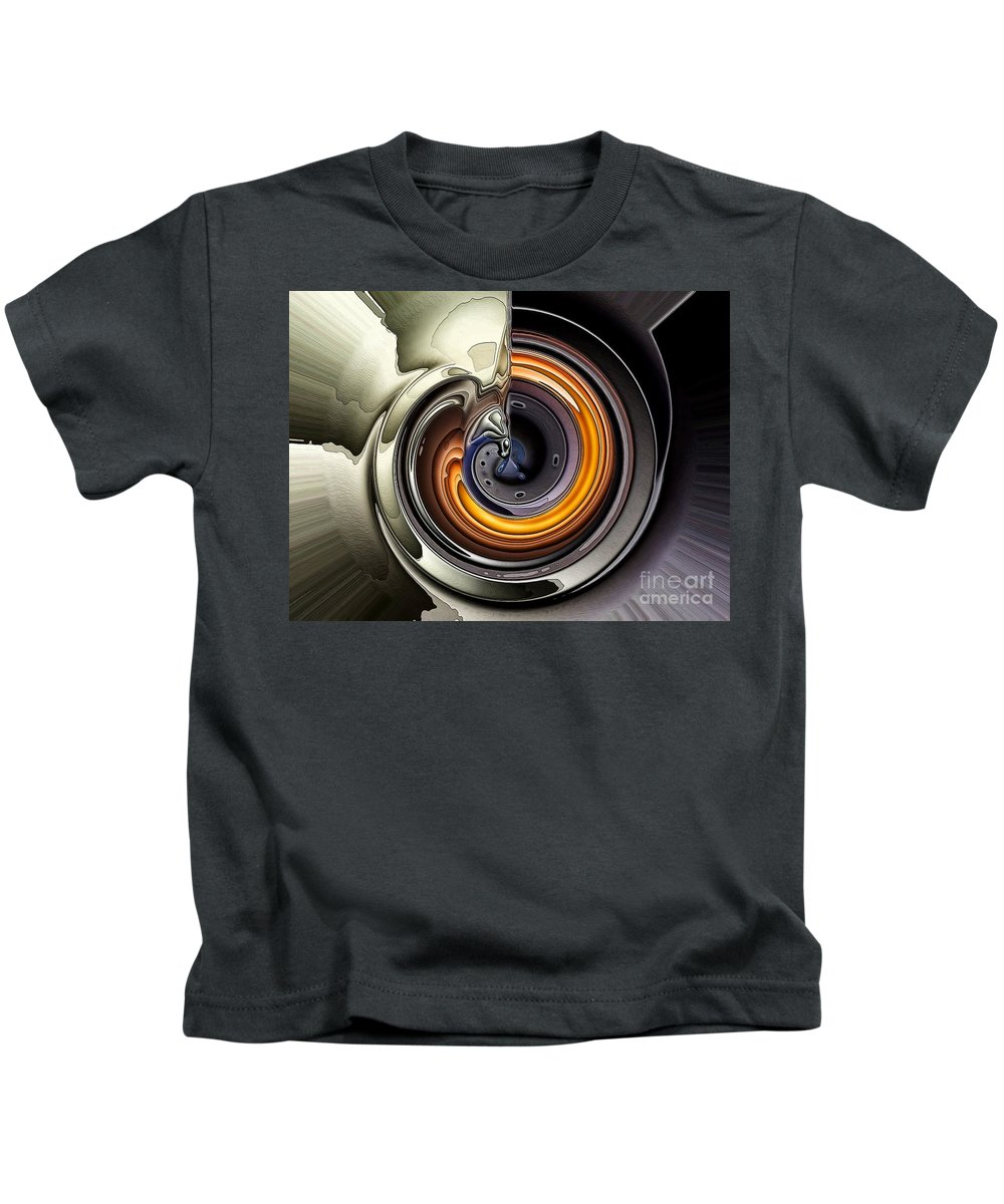 Abstract Kids T-Shirt featuring the digital art Where There Is Smoke by Ron Bissett