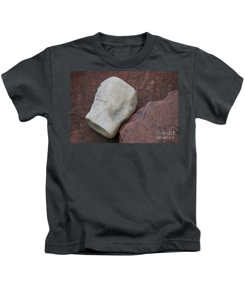 Color Kids T-Shirt featuring the photograph White Rock On Red Rock Number 1 by Heather Kirk