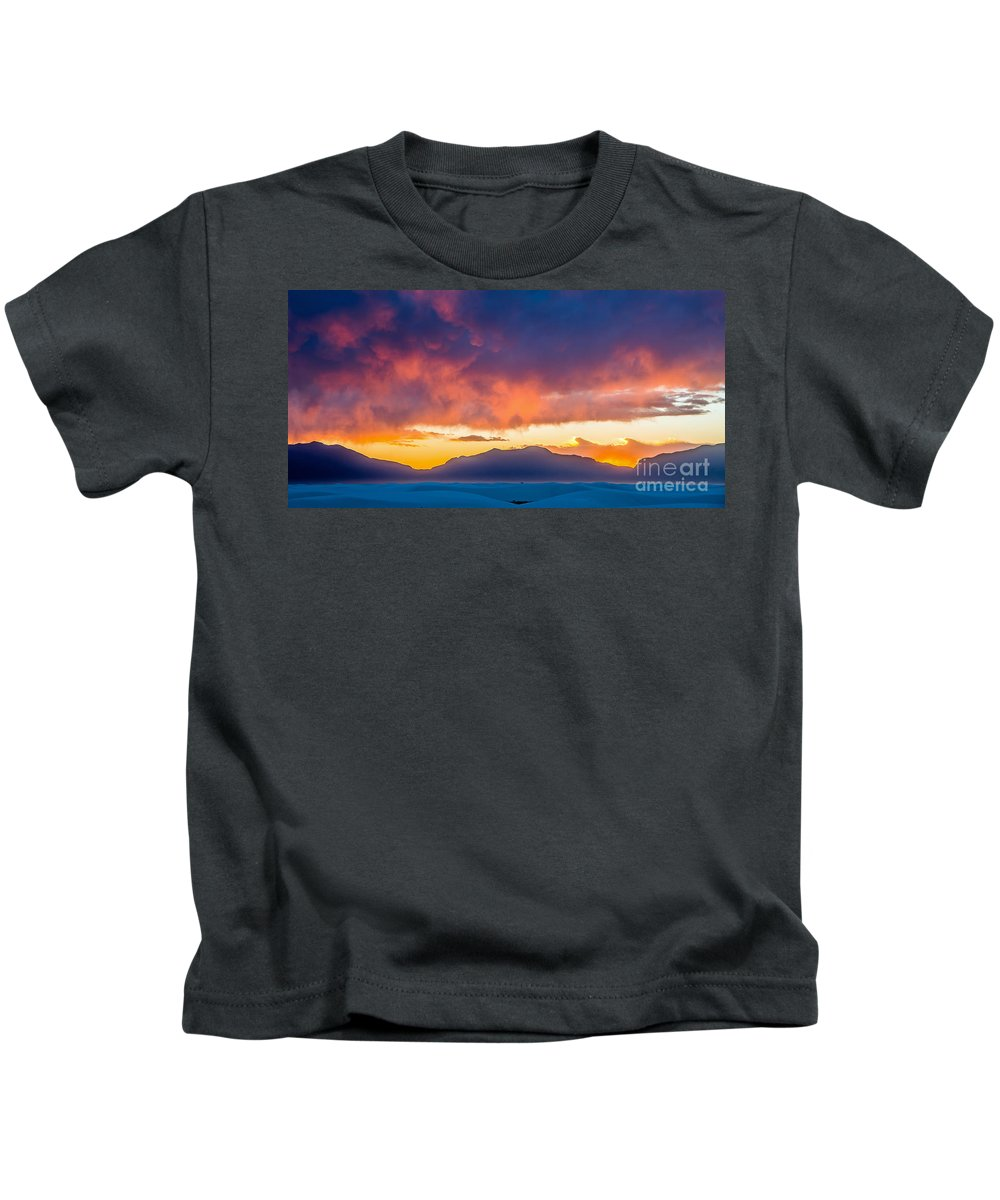 White Sands Kids T-Shirt featuring the photograph White Sands Panorama by Stephen Whalen