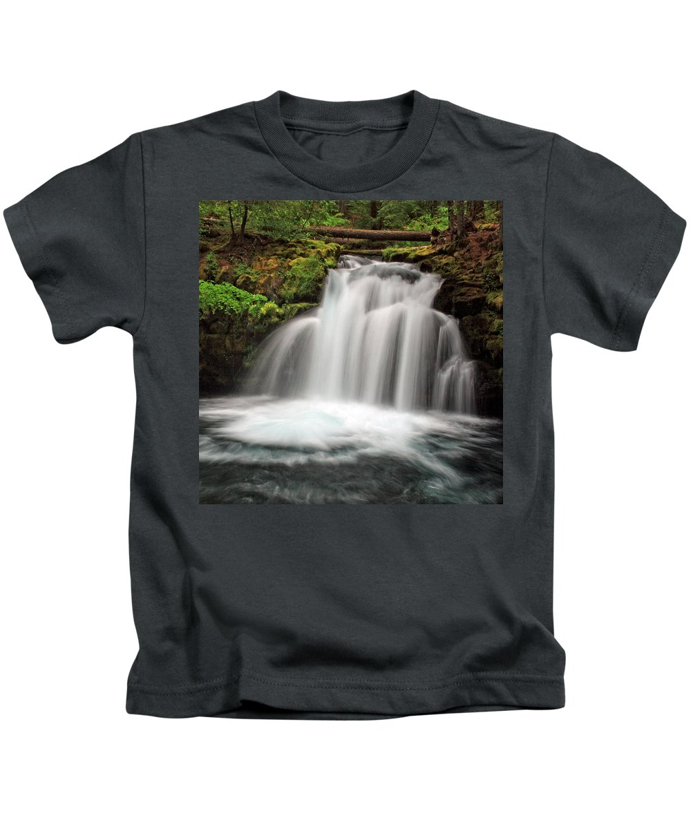 Columbia Gorge Kids T-Shirt featuring the photograph Whitehorse Falls 2 by Ingrid Smith-Johnsen
