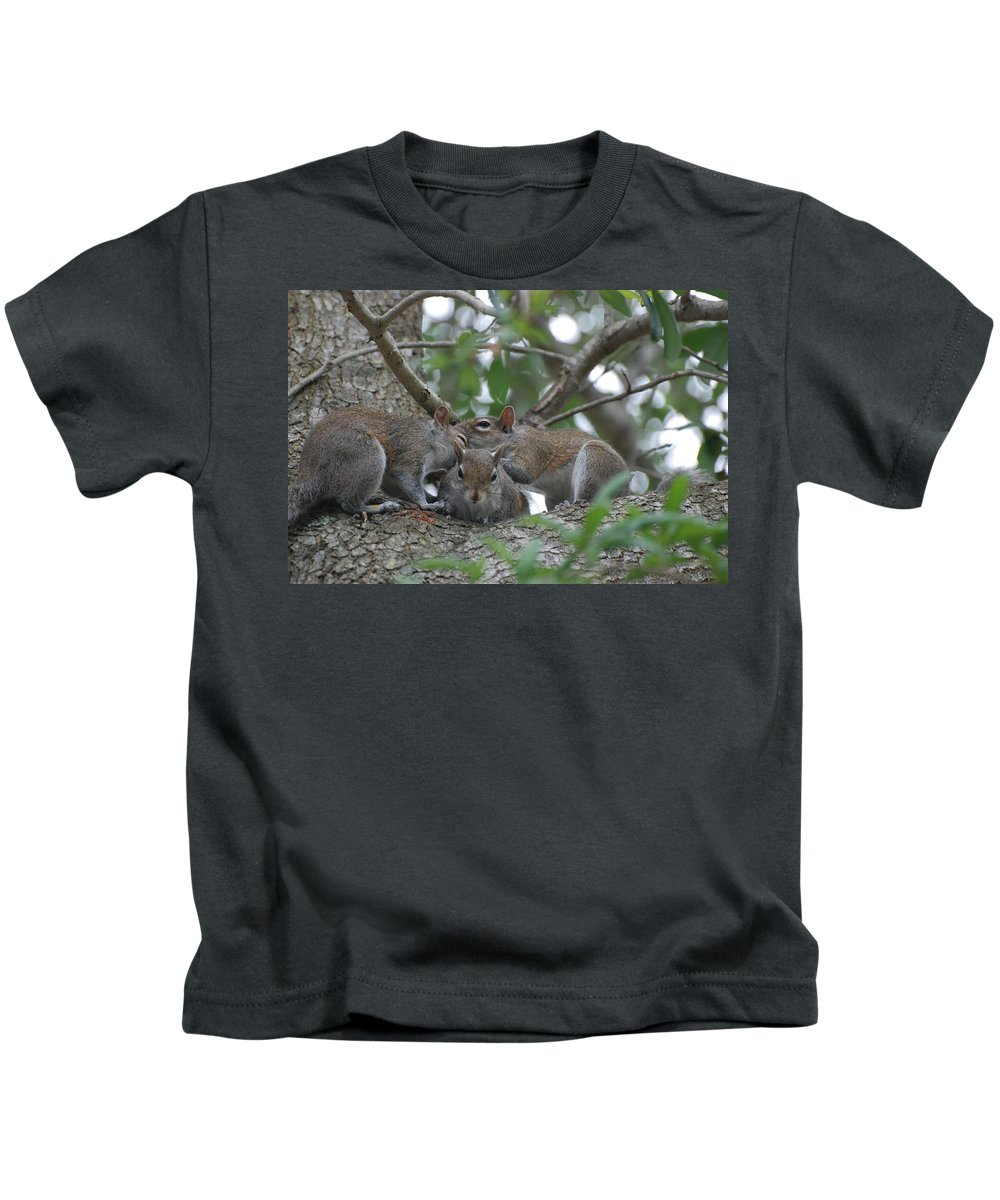Squirrel Kids T-Shirt featuring the photograph Why Me by Rob Hans
