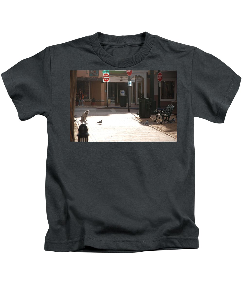 Dog Kids T-Shirt featuring the photograph Why Question Mark by Rob Hans