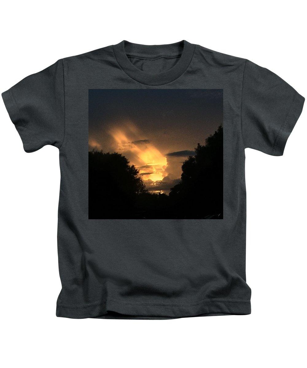 Clouds And Sky Kids T-Shirt featuring the photograph Wicked Sky by Audrey Robillard