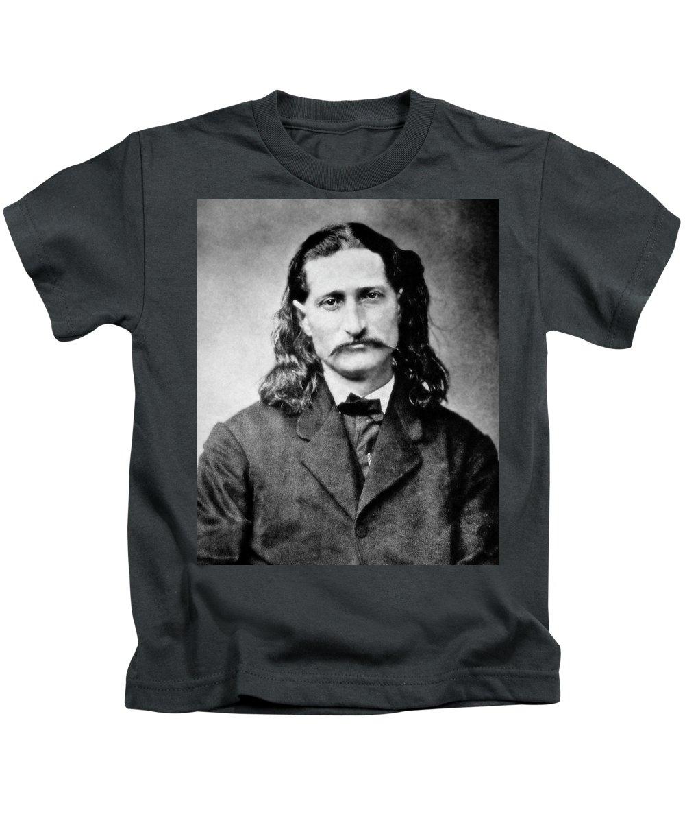 wild Bill Kids T-Shirt featuring the photograph Wild Bill Hickok - American Gunfighter Legend by Daniel Hagerman