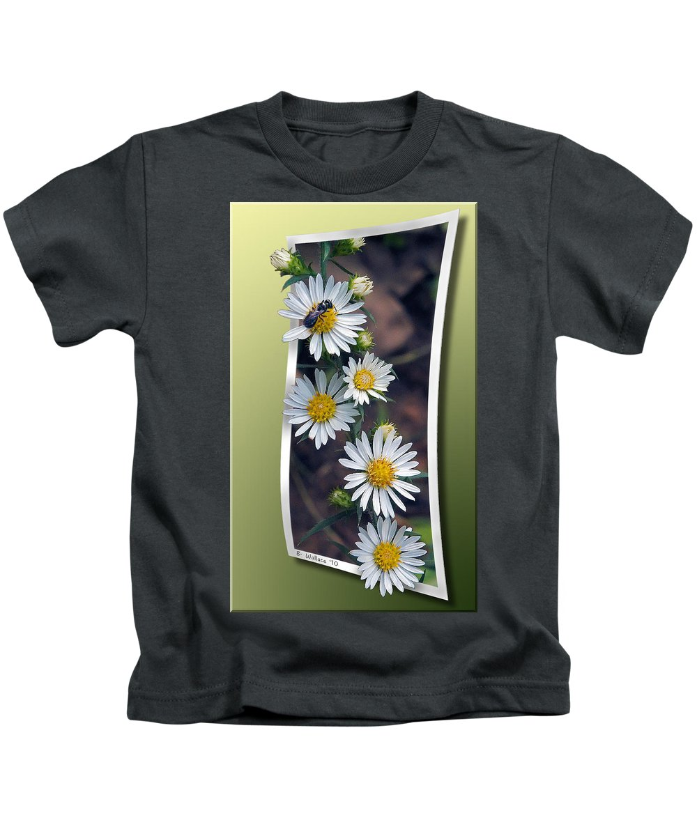 2d Kids T-Shirt featuring the photograph Wildflowers And Visitor by Brian Wallace
