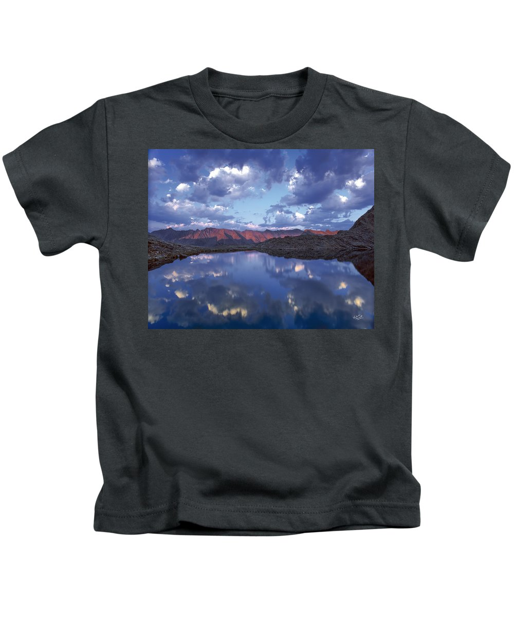 Altitude Kids T-Shirt featuring the photograph Wildhorse Lake by Leland D Howard