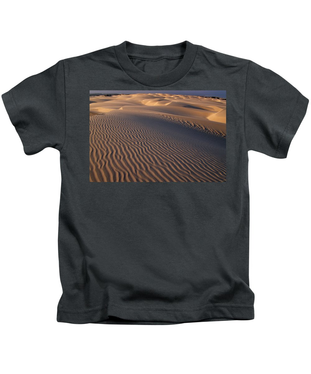 Pismo Dunes Kids T-Shirt featuring the photograph Wind Sculpture by Soli Deo Gloria Wilderness And Wildlife Photography